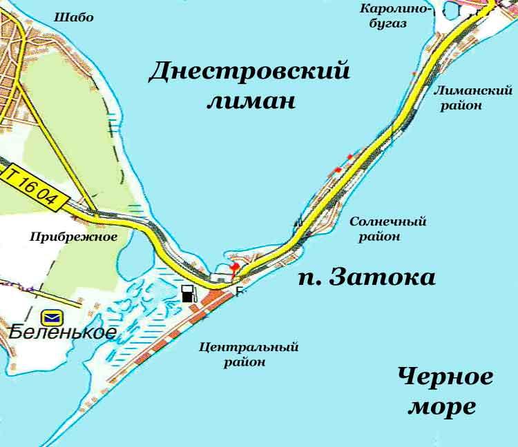 карта затока с улицами